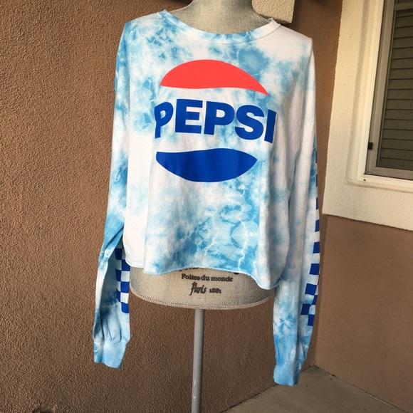 18246697df949 New Pepsi tie dye long sleeve crop tee. M 5baedf63aa8770301061fffd